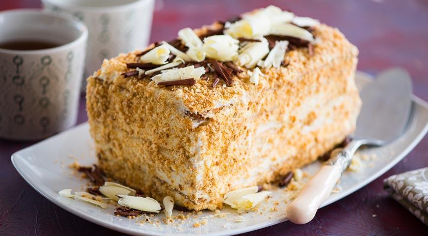 Рецепт торта наполеон пошаговый с фото